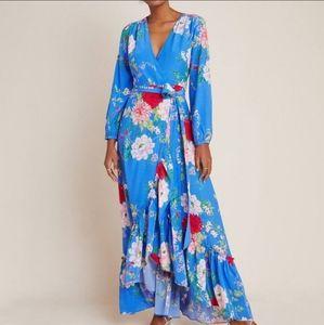 Anthropologie Yumi Kim Azure Wrap Maxi Dress